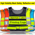 De malla de alta visibilidad reflectante de seguridad chaleco de la impresión de la insignia envío gratis