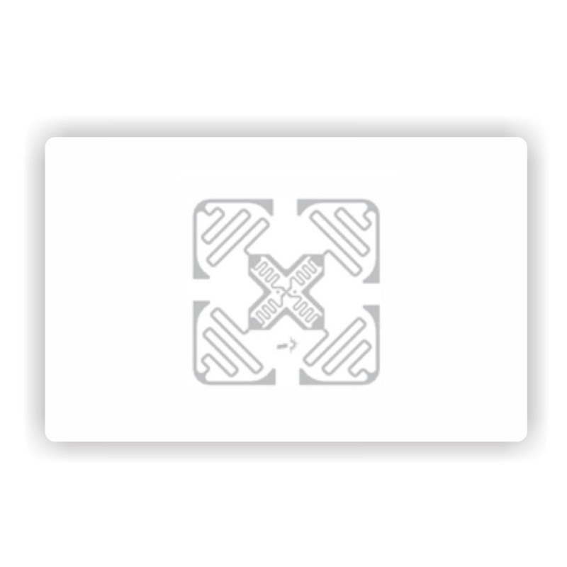 860-960MHz H47 Inlay Impinj Monza 4 Chip 128 Bit EPC UHF Rfid Card ISO18000-6C & EPC Class I Gen 2 Blank White Card