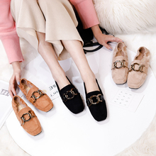 цены Women Retro Flat Cow Suede Heel Shallow Mouth Solid Color Casual Shoes Woman Autumn Flat Shoes Women Zapatos Mujer 2018 New