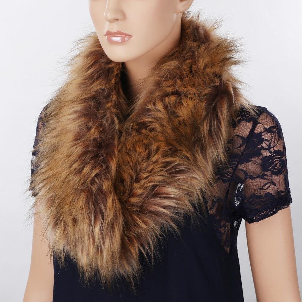 >Hot Sales Fashion Fox Fur <font><b>Scarf</b></font> Solid Winter <font><b>Scarf</b></font> Women Rabbit Raccoon Caps <font><b>Article</b></font> Fake Warm <font><b>Scarves</b></font> Shawls unisex <font><b>Collar</b></font>