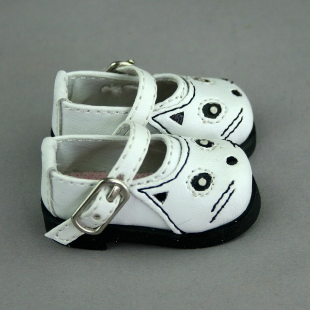 [Wamami] 08 # chaussures motif chat blanc pour 1/3 SD DZ DOD Volks BJD poupée Dollfie tenue