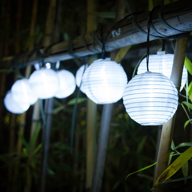 lantern 10 led solar string lights solar powered christmas light decorative lighting for home garden patio