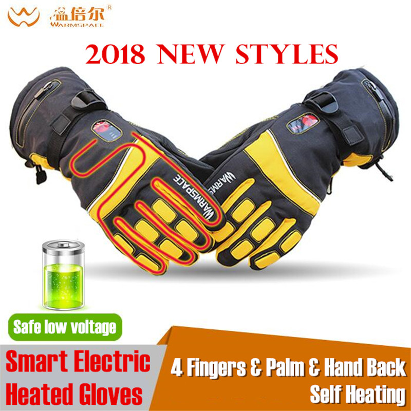 20pair 4000MAH Smart Electric Heated Gloves,Outdoor Warm Sport Skiing Glove Lithium Battery 4 Finger&Palm&Hand Back Self Heating
