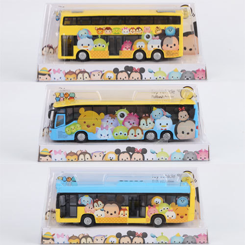 Tsum mini toy Anime cartoon Minnie Mickey mouse Winnie Dumbo elastin bus 18x9cm Bus Model for gifts