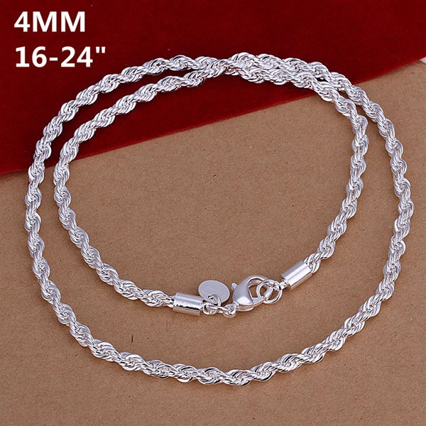 Best Sale Friendship necklace for Bride sterling silver jewelry nacklace collar jewellery big silver chain