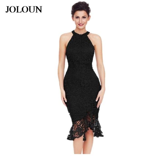 daa0c22dfa Elegant Sexy Women Sleeveless Lace Crochet Evening Party Dresses Special  Occasion Bodycon Dress Black Mermaid Midi Office Dress