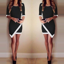 jinggton oval Sexy Women Summer Bandage Bodycon font b Evening b font Party Irregular Mini font