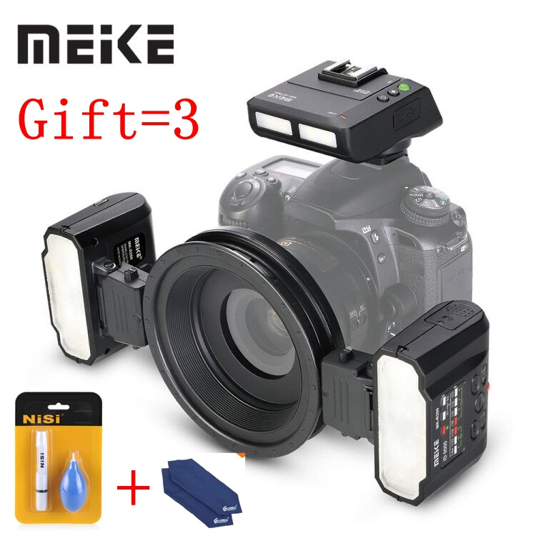 Meike MK-MT24 Macro Twin Lite Flash for Nikon D3X D200 D300 D300S D700 D800 D810 D80 D90 D600 D610 D3100 D3200 Digital SLR Camer цена и фото