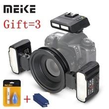 Meike – caméra SLR Macro Twin Lite MK-MT24, pour Nikon D3X D200 D300 D300S D700 D800 D810 D80 D90 D600 D610 D3100 D3200