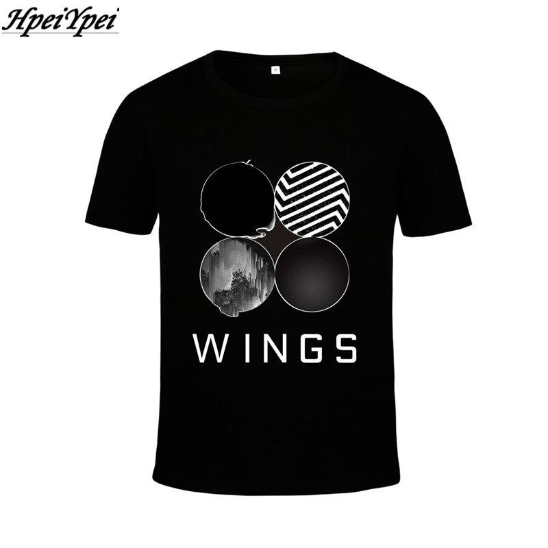 9879fdc993 BTS Bangtan Meninos 2th hpeiypei KPOP Coreano Moda ASAS de Álbum Camiseta  de algodão K-POP T Shirts T-shirt frete grátis dos homens das mulheres xxxl