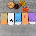 5 pares/pacote parágrafo Verão Coreano crianças de algodão meias, meias dos desenhos animados anti-skid