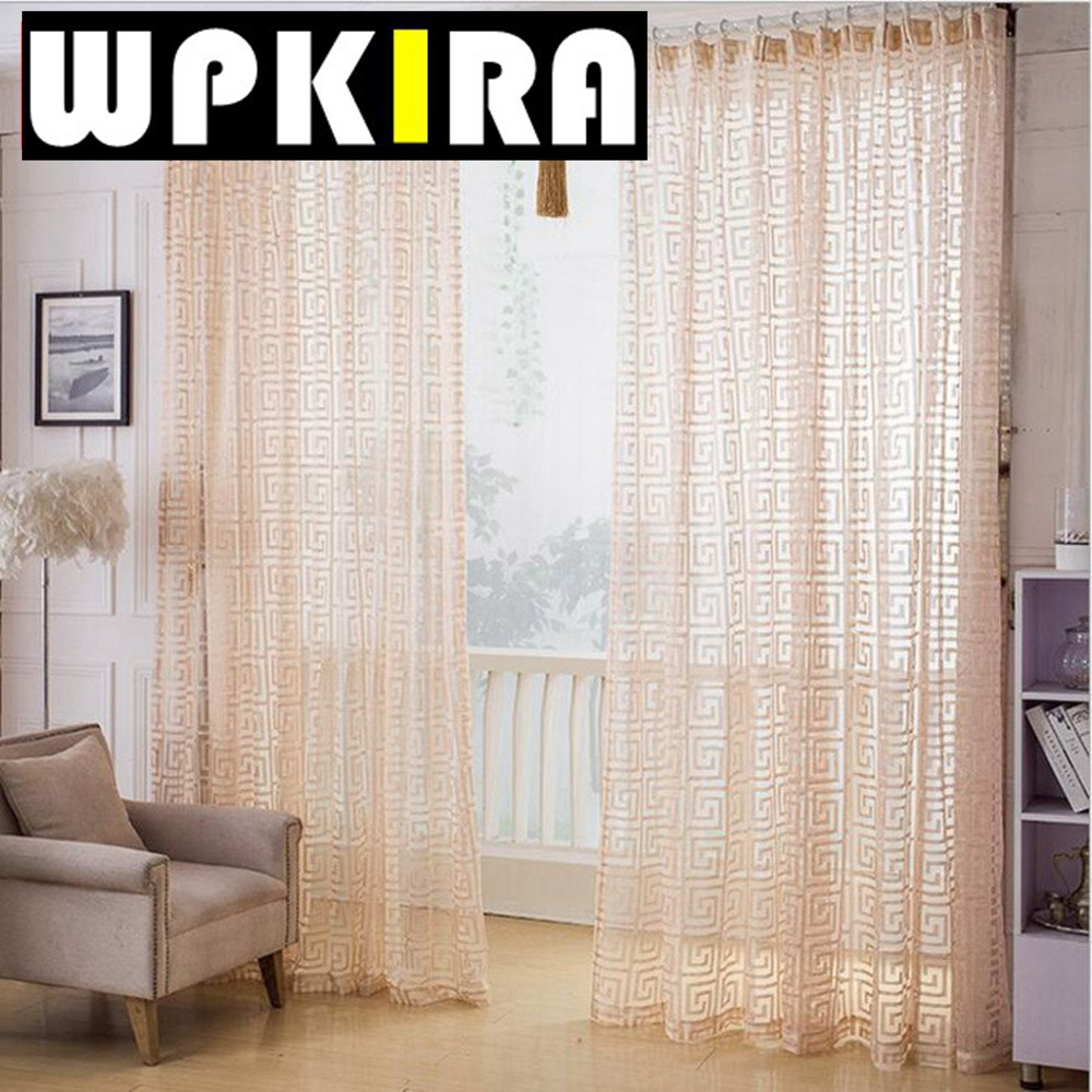 Geometric Patterned Curtains Online Get Cheap Beige Voile Curtains Aliexpresscom Alibaba Group
