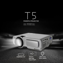 T5 Smart Wireless Wifi Hd Led Projector Home Mini Micro Portable Mobile Phone Projection Screen Projection UK-White