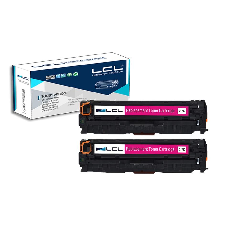 LCL 312A CF383A (2-Pack Magenta) Toner Cartridge Compatible for HP Color LaserJet Pro M476dn MFP/M476dw MFP 4x cf380a cf381a cf382a cf383a 312a compatible color toner cartridge for hp laserjet pro mfp m476dw m476nw cf387a cf385a printer