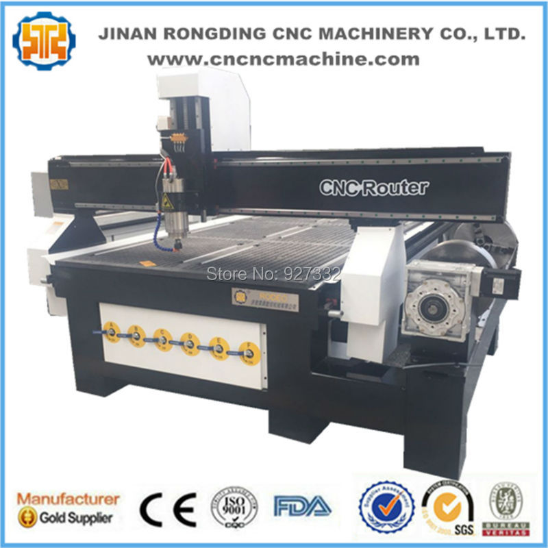 Stable Structure Cnc Router 4 Axis With Rotary, Wood Cnc Machine Price For Sale