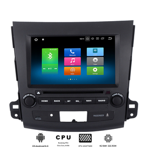 "8"" Android 8.0 Car DVD player for Mitsubishi Outlander 2007 2008 2009 2010 2011 Car radio GPS Navi with Octa Core 4G Ram+32G Rom"
