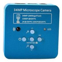 34mp 2k 1080p 60fps hdmi usb eletrônico industrial digital vídeo de solda microscópio câmera lupa para o telefone pcbtht repari
