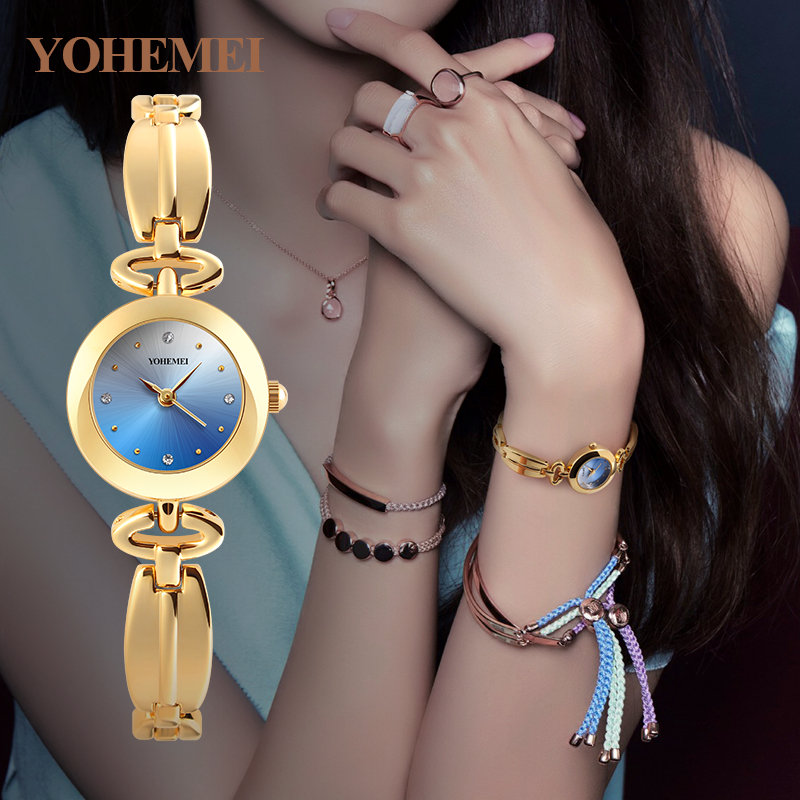 YOHEMEI Fashion Ladies Clock Women's Bracelet Watches Women Quartz Watch Relojes Relogio Feminino Reloj Mujer Montre Femme 0181 ladies women watches 2017 fashion women rhinestone bracelet watches analog quartz wristwatch ladies clock relogio feminino