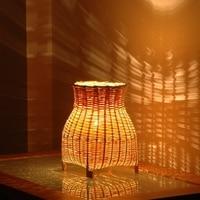 bamboo hotel sleep night light bamboo garden style living room lamp bedside wood small desk lamp lighing ZA913347