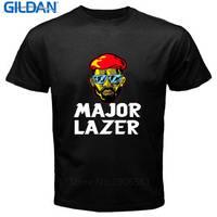 T Shirts Fashion 2017 Clothing Gildan Men S Fashion O Neck Short Sleeve Major Lazer Electronic