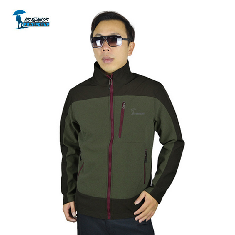 ФОТО Protective 2016 New Arrival Winter Windproof l Fleece Softshell Jacket Men Outdoor Hiking Camping Casacos Thick Therma Jacket