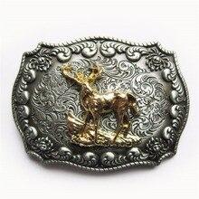 JEANS FRIEND New Original Western Cowboy Rodeo Deer Double Color Belt Buckle Gurtelschnalle Boucle de ceinture