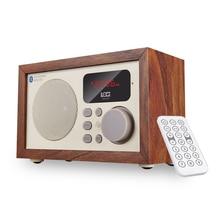 Ретро IBOX D50 многофункциональный деревянный bluetooth динамик с FM радио AUX-в/USB/TF карты MP3 плеер Hands-Free MIC Wood сабвуфера
