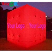 3 м 0,2 мм ПВХ гелием шар, куб надувные шары с логотипом печати и светодио дный подсветка для рекламы
