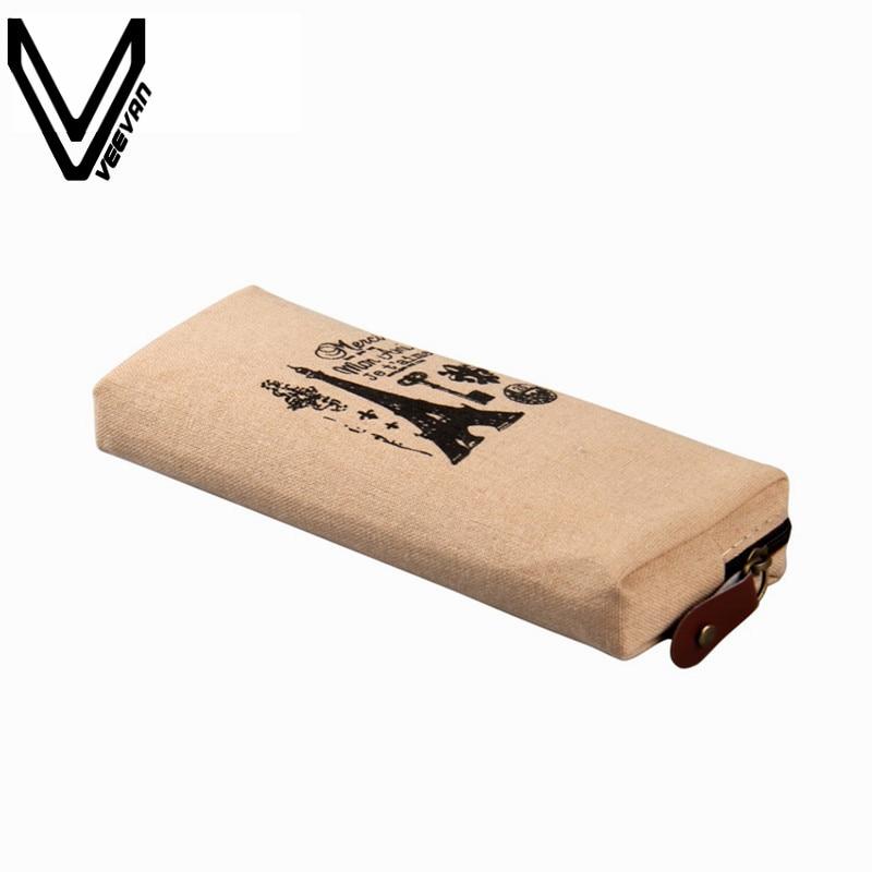 Новый Для женщин модная парусиновая Париж карандашом сумка чехол Эйфелева башня 4 вида конструкций ручка коробки Канцелярские сумка Портмо…