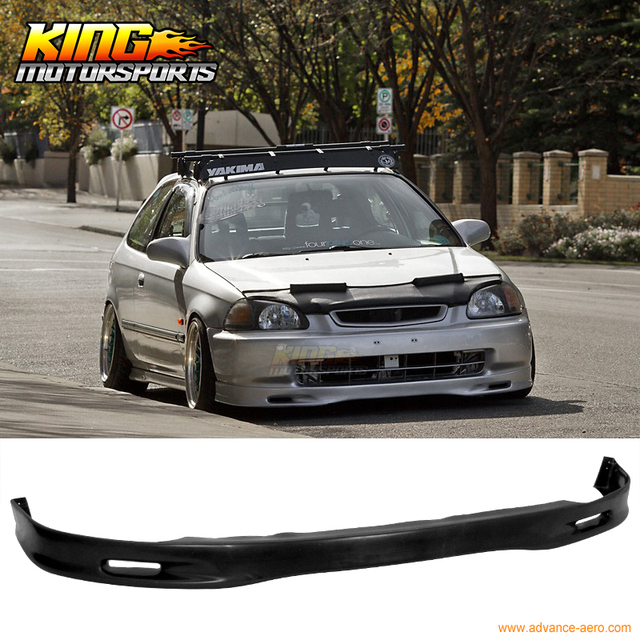US $39 0 |For 1996 1998 Honda Civic EK 1997 Spoon style Front Bumper Lip  Urethane Spoiler-in Bumpers from Automobiles & Motorcycles on  Aliexpress com