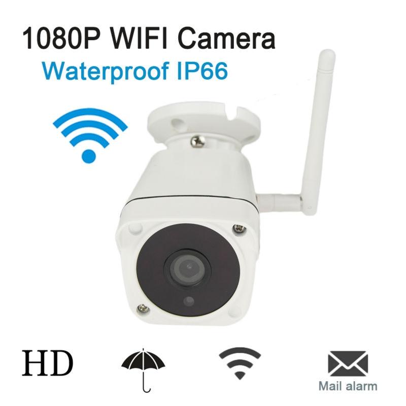 Buy HD 1080P Wifi IP Camera Outdoor Night Vision Wireless Onvif P2P CCTV Surveillance Bullet Security Camera IP 2MP Waterproof IP66