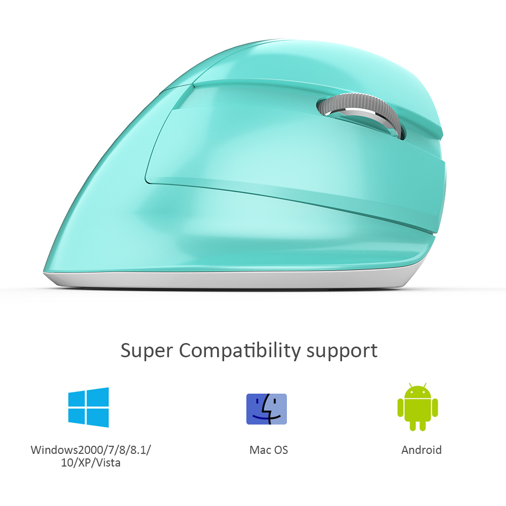 Image 5 - Delux M618 Mini Gaming Wireless Mouse Ergonomic Vertical Mouse Bluetooth 2.4GHz RGB Rechargeable Silent click Mice for Office-in Mice from Computer & Office