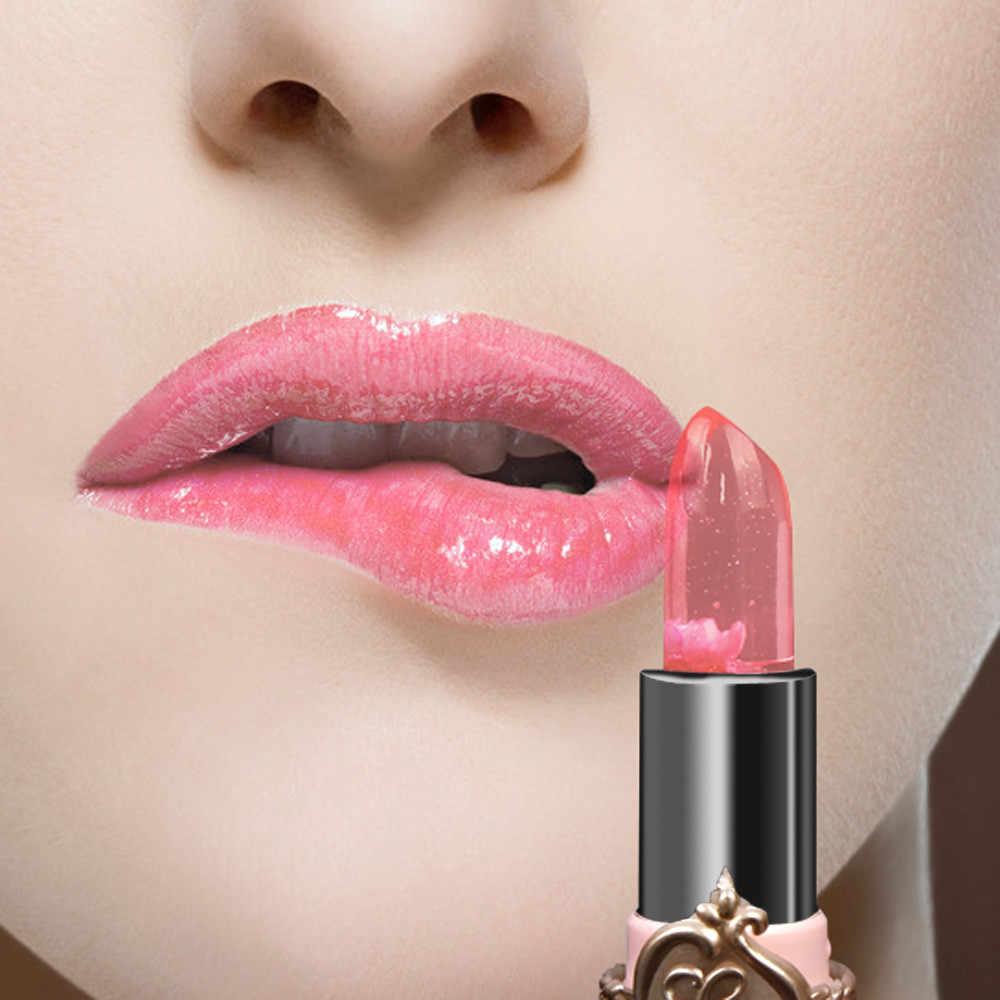 שפתון של נשים מקצועי ורוד שינוי צבע עמיד למים Nutritions לאורך זמן איפור לחות שפתון גלוס 19L0517