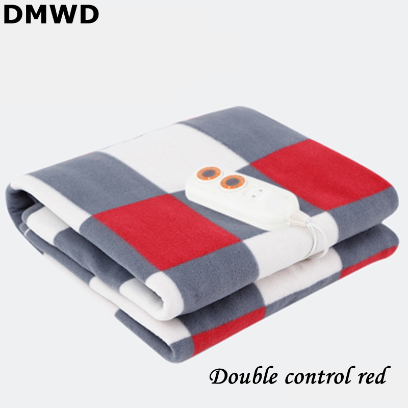 DMWD 220V/50Hz 9 Gear Adjustable Temp Setting Temp Controlled Electric Blanket Waterproof Fabric Single/Double Control Interface