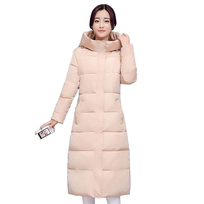 2017 rose À Taille Manteau Épaississement Haute Qualité Survêtement Noir Hiver Femelle Capuche Veste Rembourré Mince Mode gris Plus Chaud Coton rouge Femmes La De Parkas 54gqg
