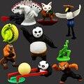 Envío Gratis juguetes para niños regalos conjunto figura de acción móvil Kung Fu Panda 3 2 maestro Po juguete muñeca artículos de decoración
