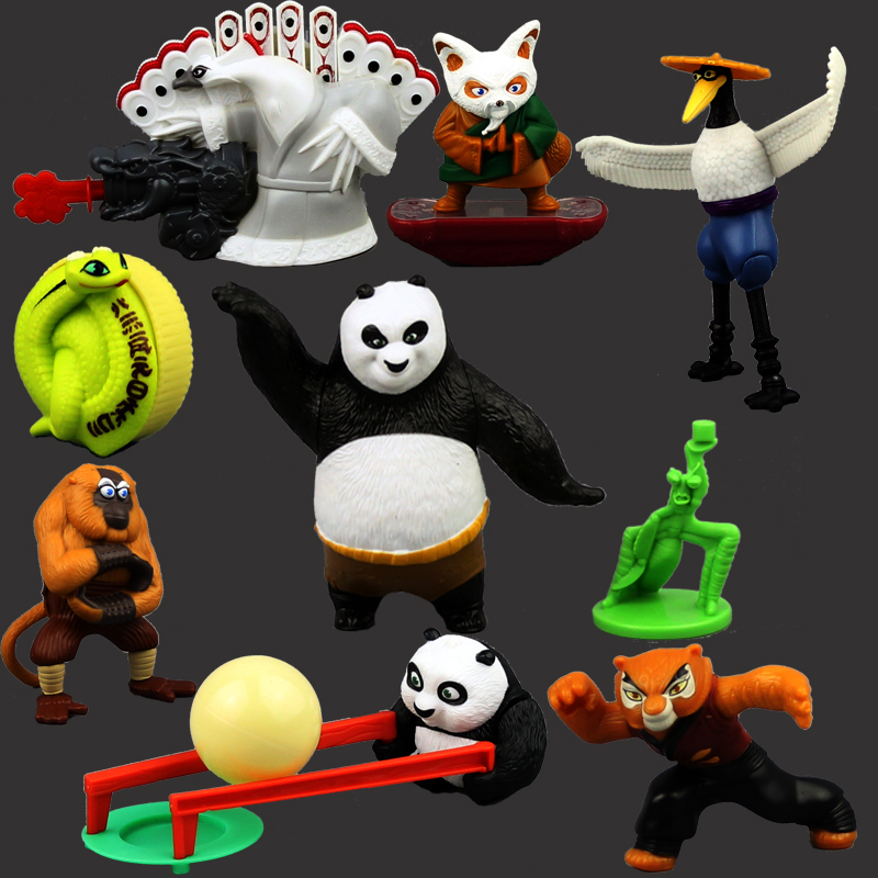 Free Shipping Children's Toys Gifts Joint Movable Action Figure Kung Fu Panda 3 2 Master Po Toy Doll Furnishing Articles