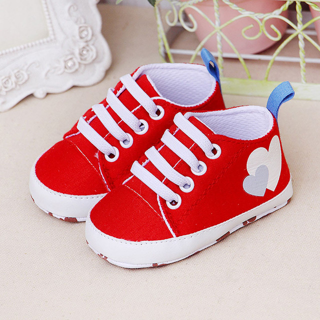 Newborn Shoes – Girls Boys Soft Casual canvas sneakers