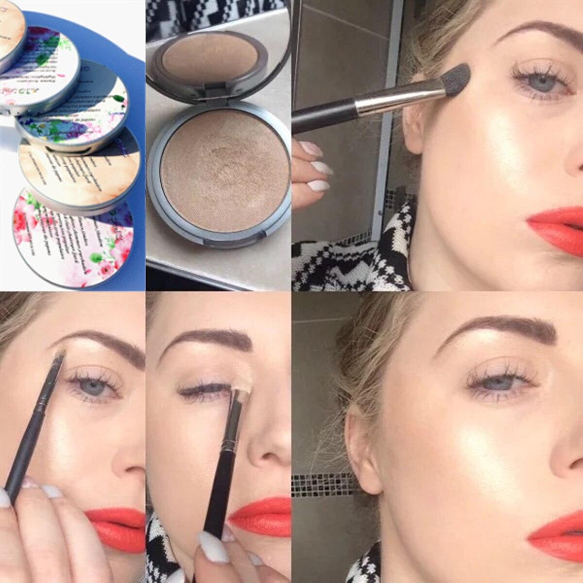AIGOMC Highlighter Makeup 3 Colors Natural Glow Illuminator Make Up Base Highlighter Palette Glitter Contour Powder Brighten