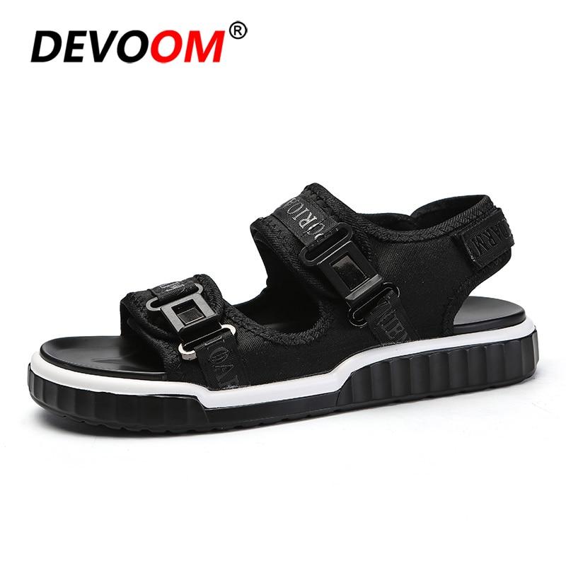 Fashion Beach Shoes for Man Summer Men Sandals for Ocean Beach Walking Sandalia Masculina Quality Top PU Outsole Black Color