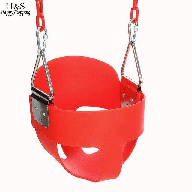 29.5*28*23 см ведро качели для детей дети играют высокой спинкой полное ведро swing сиденье с покрытием цепи хорошо играть дома или Garden
