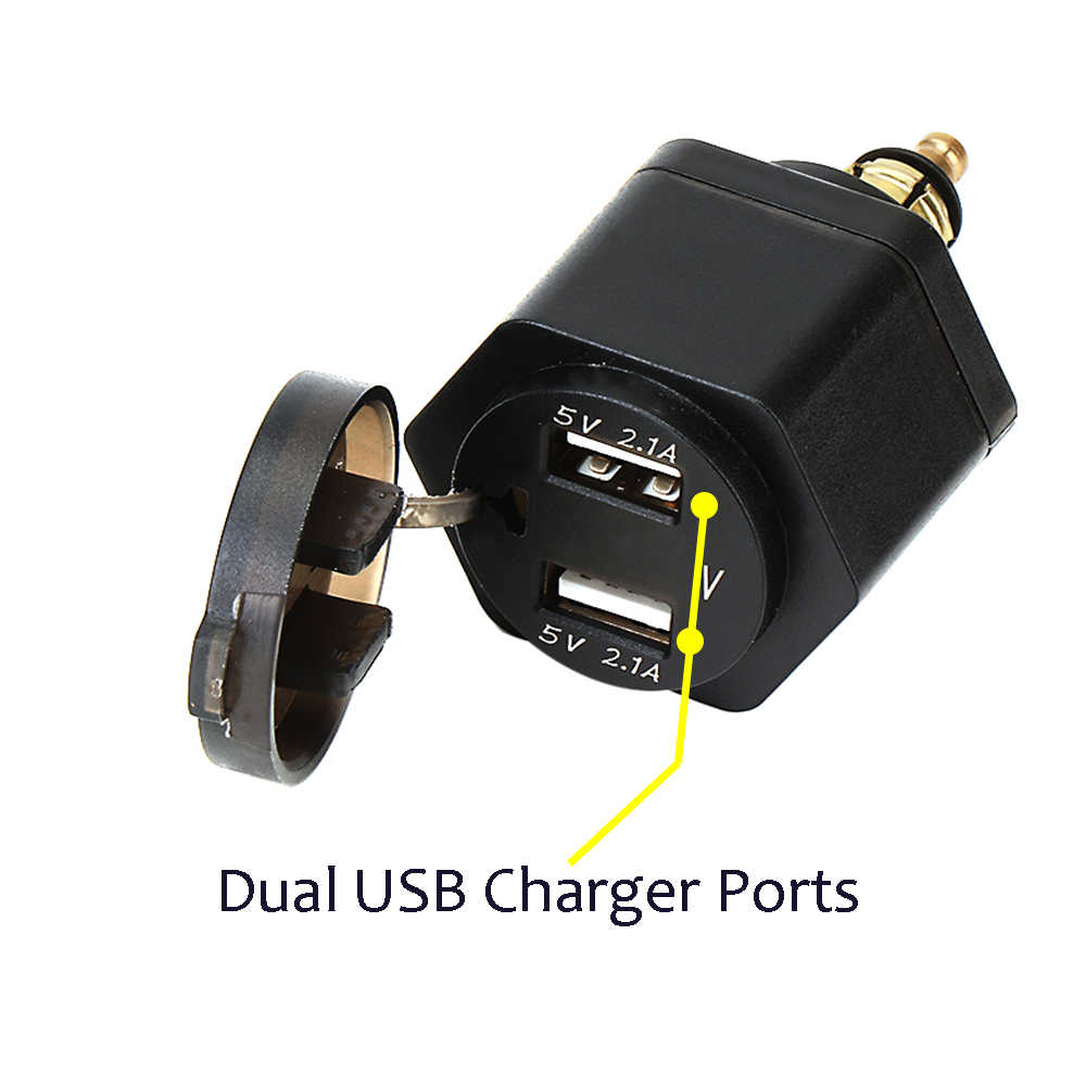 Voor BMW R1250GS R1200GS R1200RT F800 GS F800GS F650GS F700GS R1200RT ADV Dual USB interface Digitale Display Charger Adapter Poort