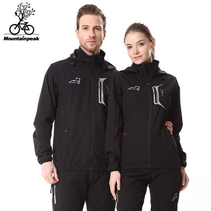 Mountainpeak Windbreaker Long Sleeved Suit Männer und Frauen Fahrrad Outdoor Sports Haut Kleidung Winddicht ropa ciclismo