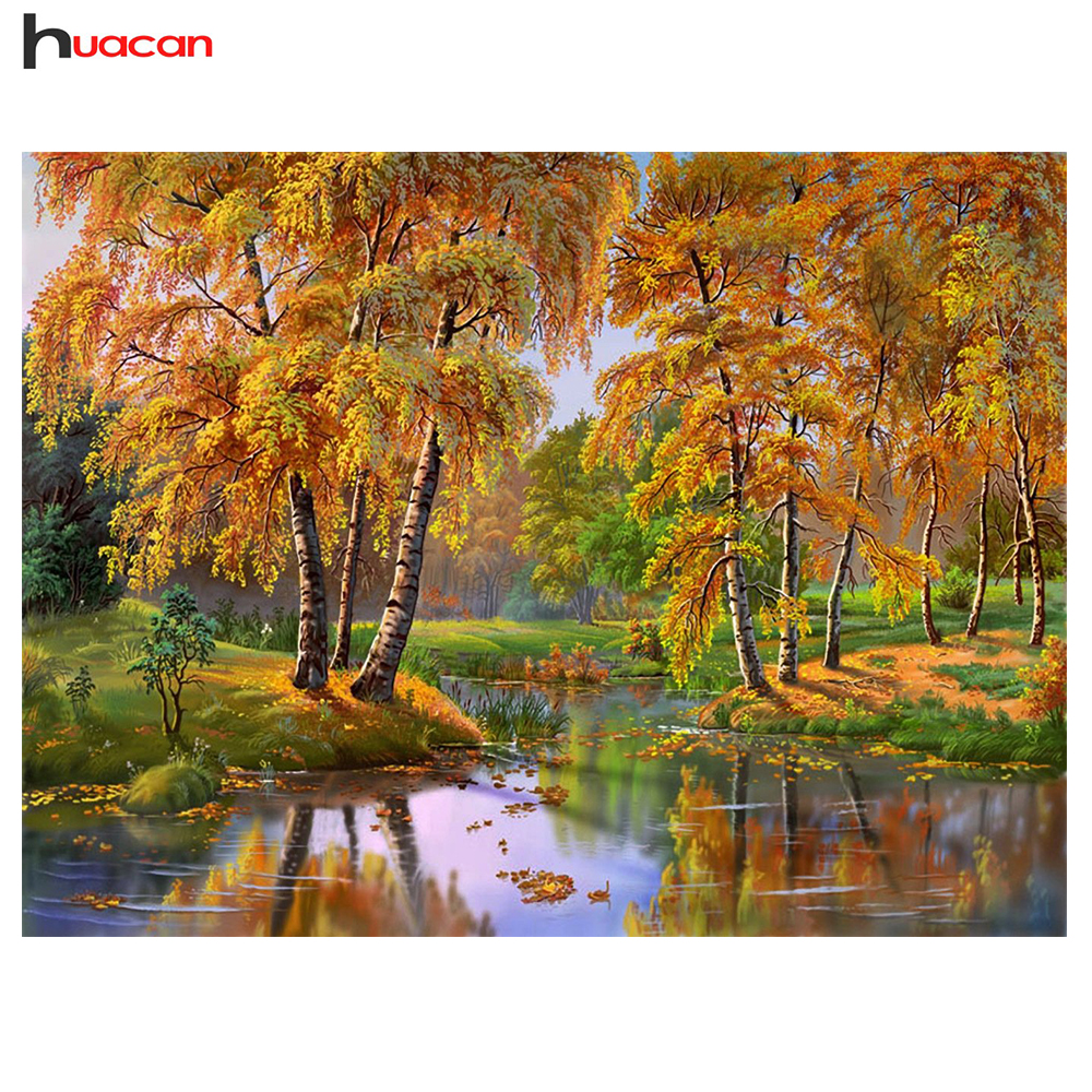 HUACAN Diamond Embroidery Diy Diamond Painting Full Square Russia Landscape Bead Work Decorative Modern Crafts