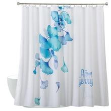 Aimjerry White Shower Curtain FabricModern bathtub Bathroom With 12 Hooks Custom 71*71 inch Waterproof Mildewproof 060