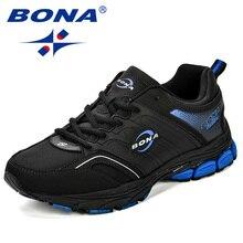 BONA גברים נעליים יומיומיות מיקרופייבר איש דירות תחרה עד לנשימה גברים אופנה קלאסי חיצוני נעלי Zapatos דה Hombre משלוח חינם