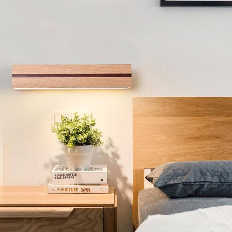 Nordic Rotating LED Decor Wall Light for Bedside Bedroom Modern Simple Wooden Living Room Stairs Led Decorate Wall Lamp Fixture nordic modern simple living room bedroom bedside lamp atmosphere cozy originality white candle home decor led pendant light