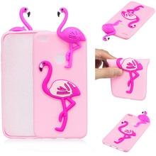 3D Cute Cartoon Dolls Cactus Flamingo Bear Panda Phone Case For Huawei P8  Lite 2017 Soft