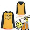 Anime One Piece Cosplay Lei Trafalgar traje roupas Sportswear unisex Outono inverno T-shirt de manga longa Com Capuz Moletom Com Capuz