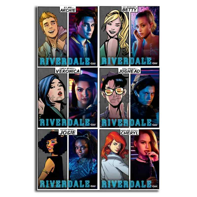 Riverdale Cast Vs Archie Comics Artwork Wall Art Canvas Posters Prints Painting Wall Pictures For Office Living Room Home Decor